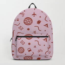 Cityicons Postmodern Travel Print - Lilac/Rust Backpack