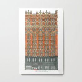 Don't Forget to Look Up: Potter Building Metal Print