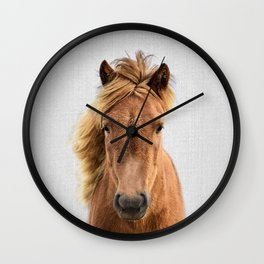 Wild Horse - Colorful Wall Clock