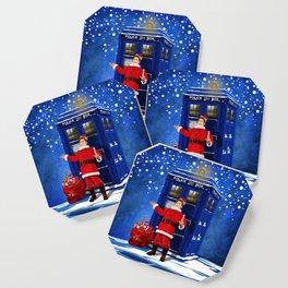10th Doctor who Santa claus Coaster