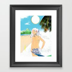 garota de ipanema Framed Art Print