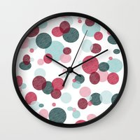 polka Wall Clocks featuring Polka by Nichole B.