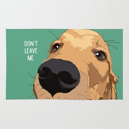 Golden Retriever-Don't leave me! Rug