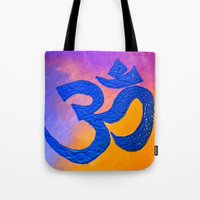 ohm Tote Bags featuring Ohm by KD Ives