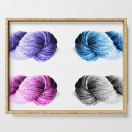 Four Skeins of Yarn Serving Tray