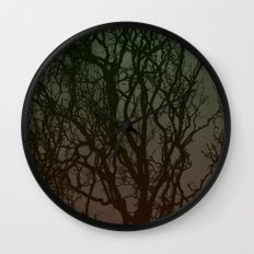 Ombre branches Wall Clock
