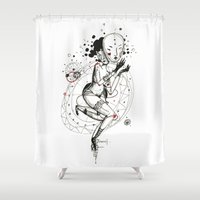 carnival Shower Curtains featuring Carnival by Ianah Maia