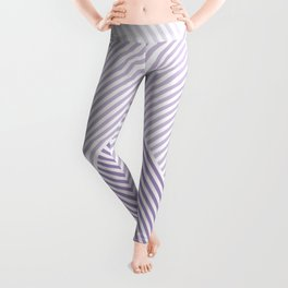 Shades of Purple Abstract geometric pattern Leggings