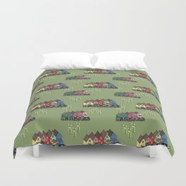 Colourful houses of Cobh Ireland Duvet Cover