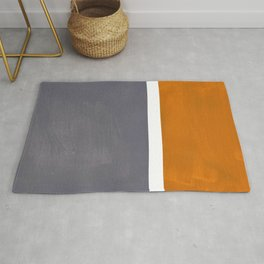 Grey Yellow Ochre Rothko Minimalist Mid Century Abstract Color Field Squares Rug
