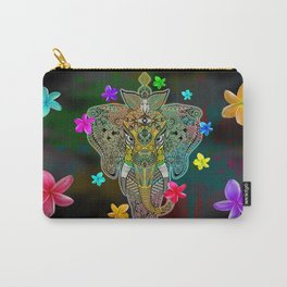Elephant Zentangle Doodle Art  Carry-All Pouch