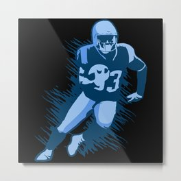 Player with Football Metal Print