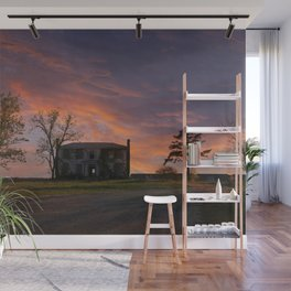 Old House at Sunset Wall Mural