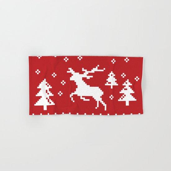CHRISTMAS DEER II Hand & Bath Towel