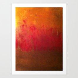 Fire Below Art Print