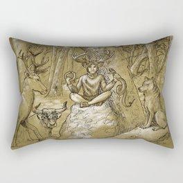 Cernunnos (monochrome) Rectangular Pillow