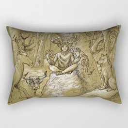 Cernunnos (monochrome) Rectangular Pillow