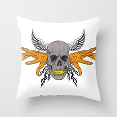 BAD BONE Throw Pillow