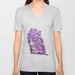 purple owl Unisex V-Neck