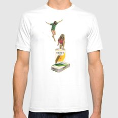Choices MEDIUM Mens Fitted Tee White