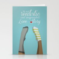 socks Stationery Cards featuring Unmatched socks by gort