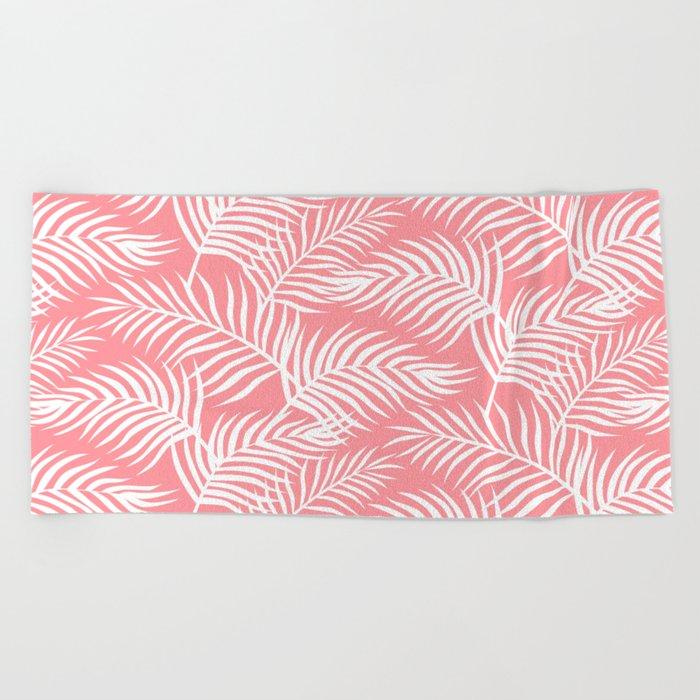 Palm Leaves_Pink Beach Towel