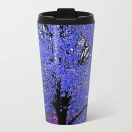 Trees Blue Purple Travel Mug