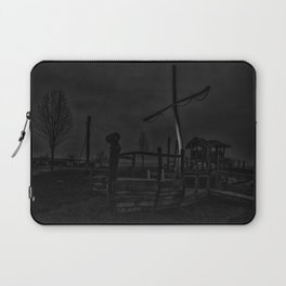 Ghost Ship in Black and White - Art Photography Laptop Sleeve