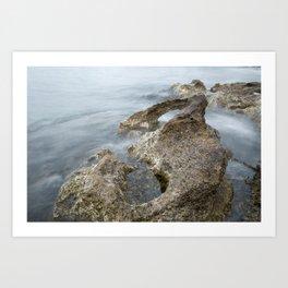 double-exposure water close up photograph Art Print