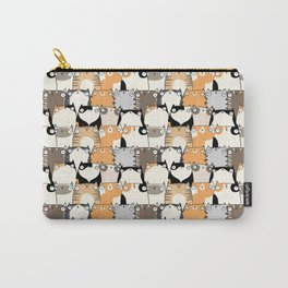 Staring Cats Carry-All Pouch