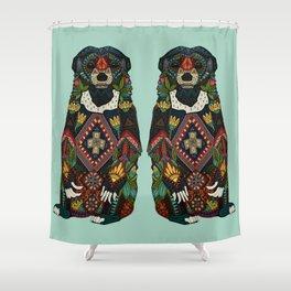 sun bear mint Shower Curtain