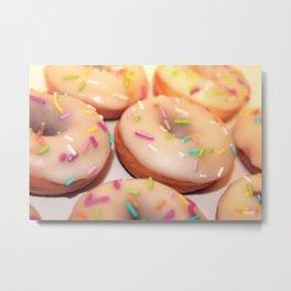 Vanilla Glazed Donuts Metal Print