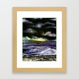 Lavender Waves Framed Art Print
