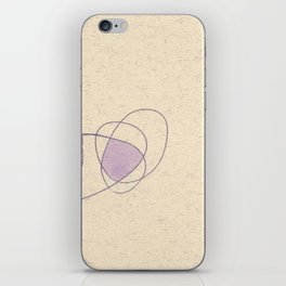 Purple Puff iPhone Skin