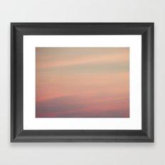 Pink Opaline Sky Framed Art Print