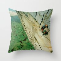 vertigo Throw Pillows featuring vertigo by Jesse Treece