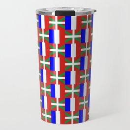 mix of flag: France and euskal herria Travel Mug