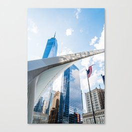 One World Trade Center and Oculus in New York Canvas Print