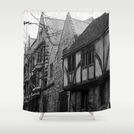 Cornmarket Street Oxford, England photograph by Larry Simpson Shower Curtain
