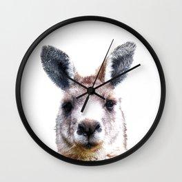 Kangaroo Portrait Wall Clock