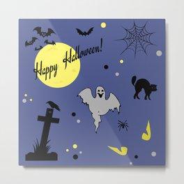 Halloween symbols Metal Print
