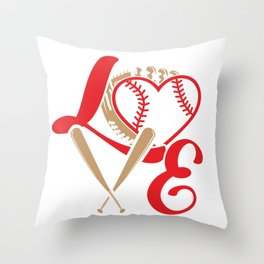 Baseball Lovers Softball Mom Fan Gift Throw Pillow