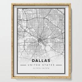 Dallas Modern Map Serving Tray