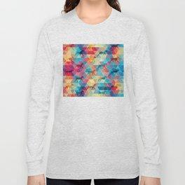 WEIMARANER AND TRIANGLES Long Sleeve T-shirt