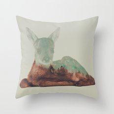 Resting Fawn Throw Pillow