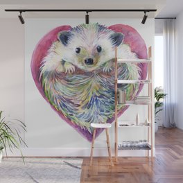 HedgeHog Heart by Michelle Scott of dotsofpaint studios Wall Mural