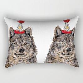 Wolf Party Rectangular Pillow