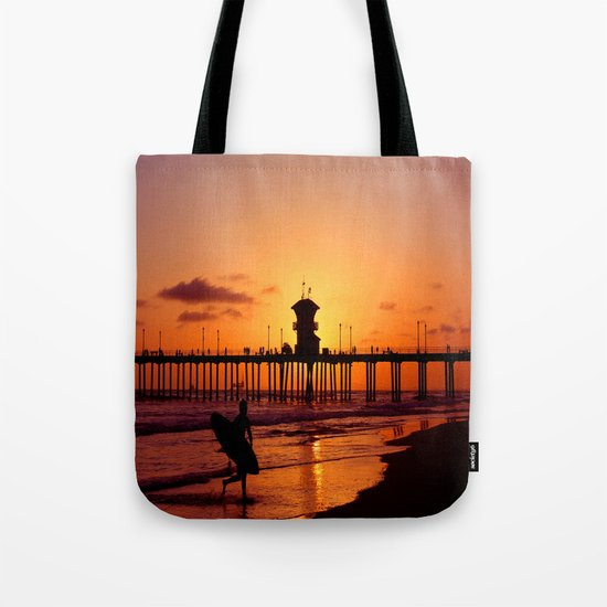 Surfers Sunset Tote Bag