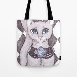 Diamond Kitty Cat art Tote Bag