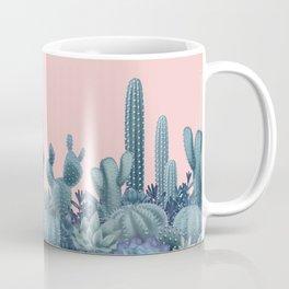 Milagritos Cacti on Rose Quartz Background Coffee Mug